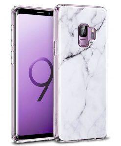 Galaxy S9 Marble Slim Soft Case white