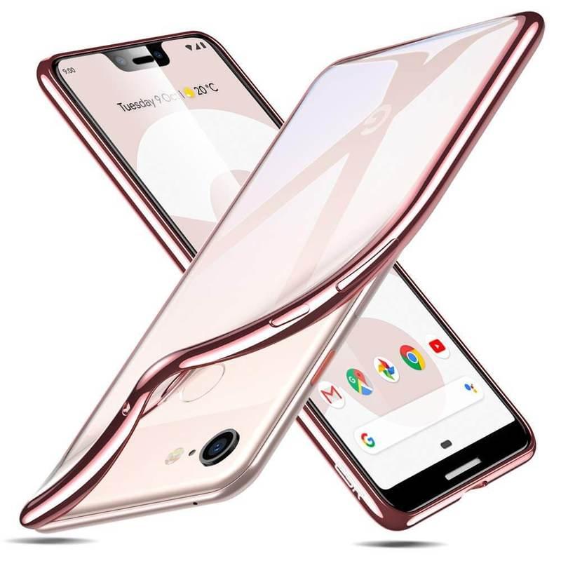 Pixel 3 XL Slim Clear Soft TPU Case rose gold