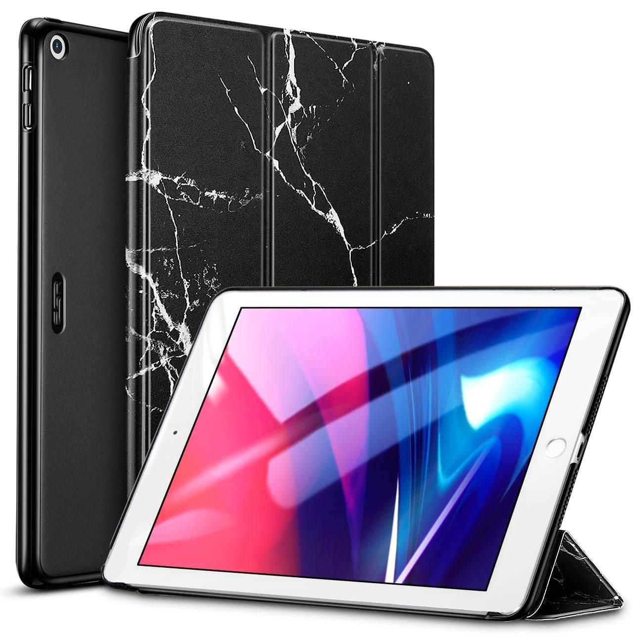 iPad 9.7 20182017 Marble Trifold Case black