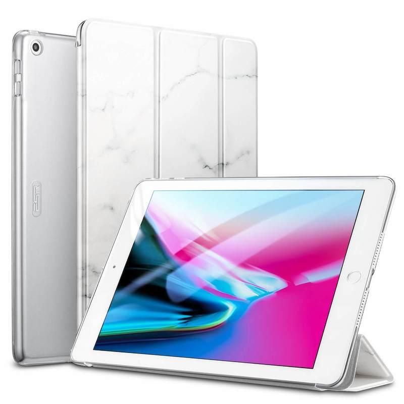 iPad 9.7 20182017 Marble Trifold Case white