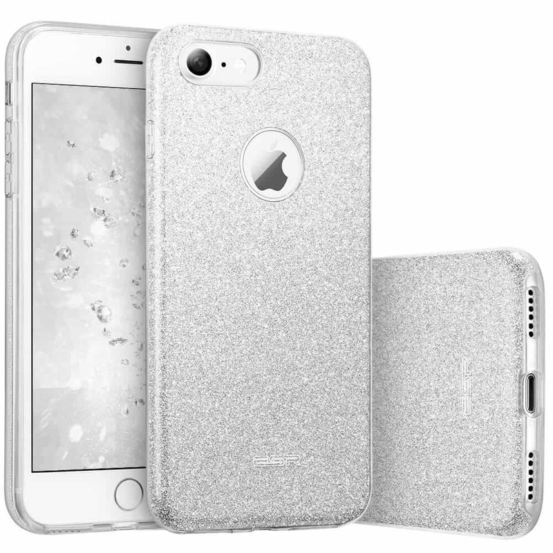 iPhone 7 Makeup Glitter Case-silver