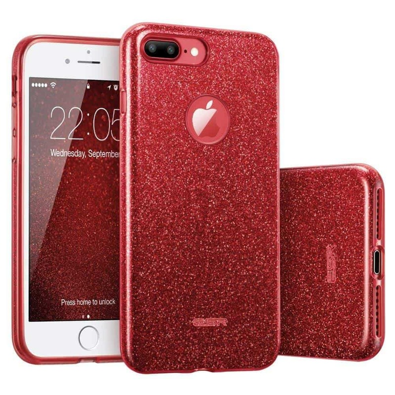iPhone 7 Plus Makeup Glitter Case-red