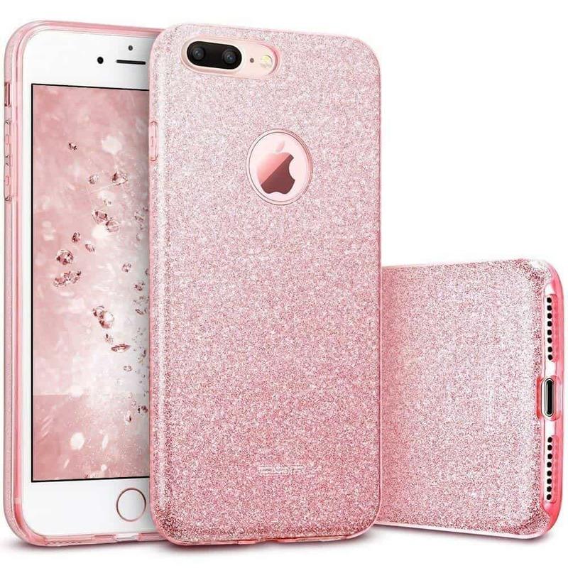 iPhone 7 Plus Makeup Glitter Case-rose-gold
