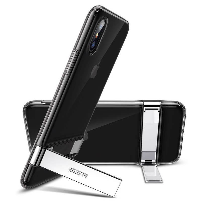 iPhone XS Max Metal Kickstand Case-translucent