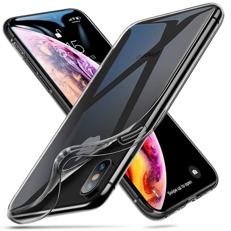 iPhone XS Max Slim Clear Soft TPU Case black