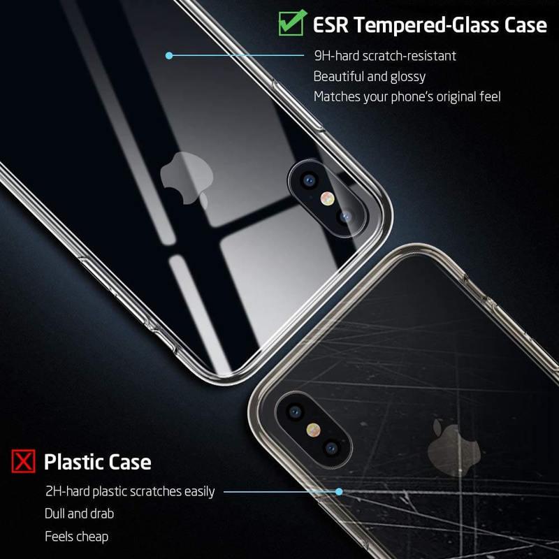 iPhone XSX Mimic Tempered Glass Case-3