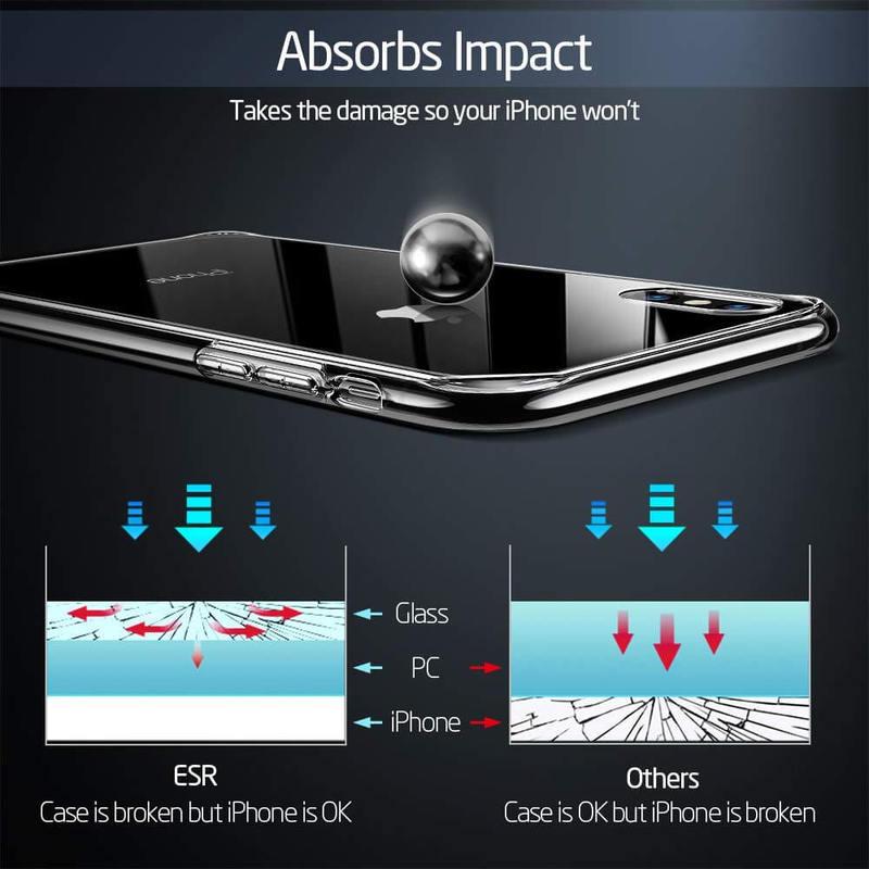 iPhone XSX Mimic Tempered Glass Case-4