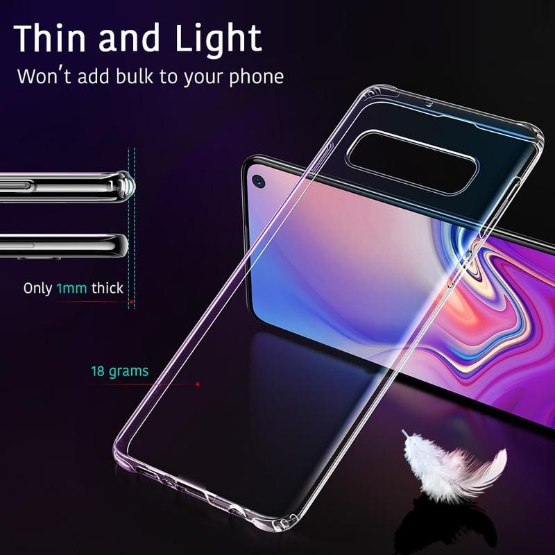 Galaxy S10 E Essential Slim Clear Soft TPU Case-1