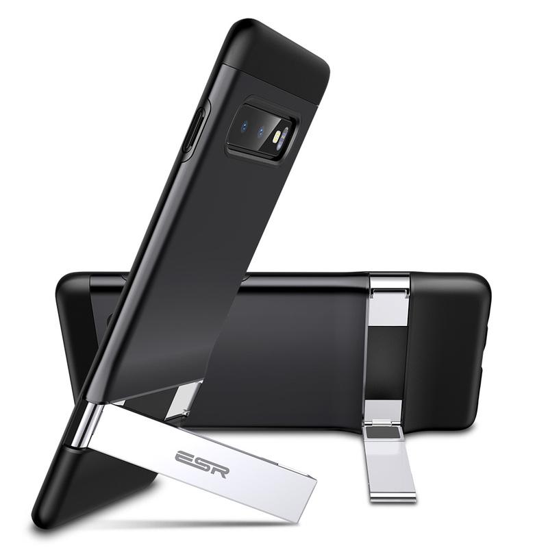 Galaxy S10 E Metal Kickstand Case Black