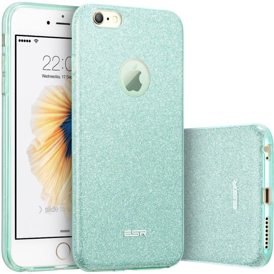 iPhone 6s 6 Makeup Glitter Case Green