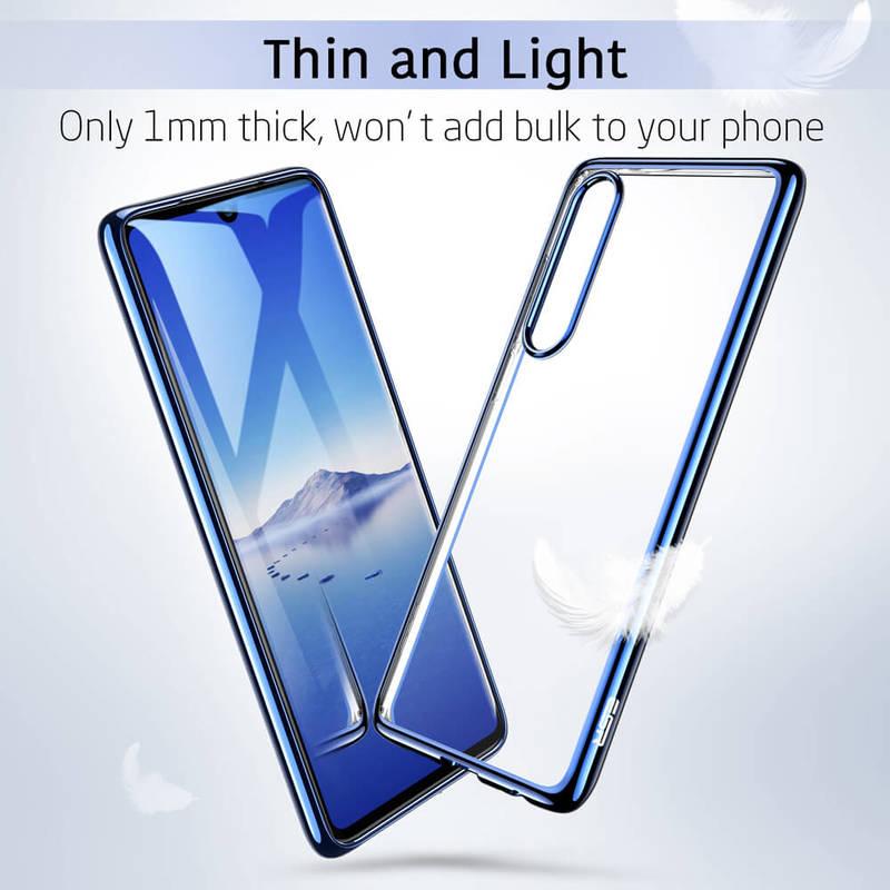 P30 Essential Slim Clear Soft TPU Case blue1 1