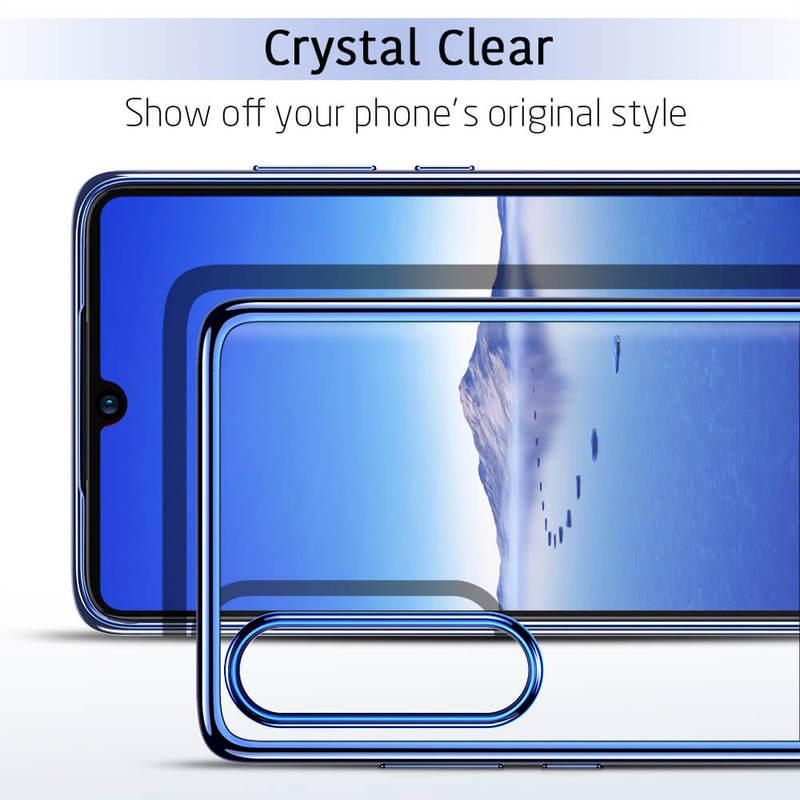 P30 Essential Slim Clear Soft TPU Case blue2 1