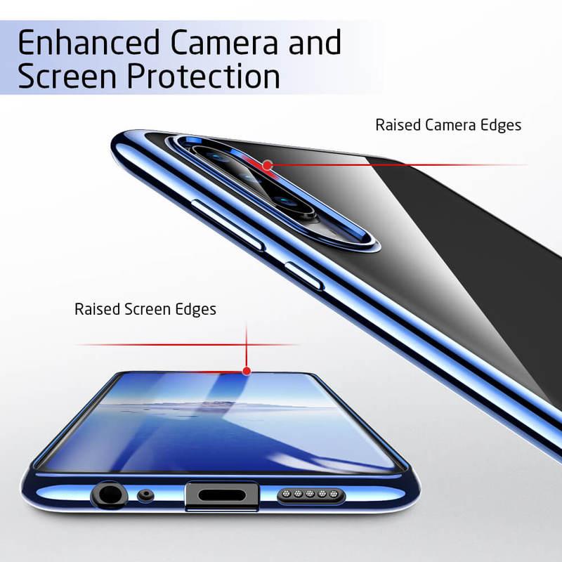 P30 Essential Slim Clear Soft TPU Case blue4 1