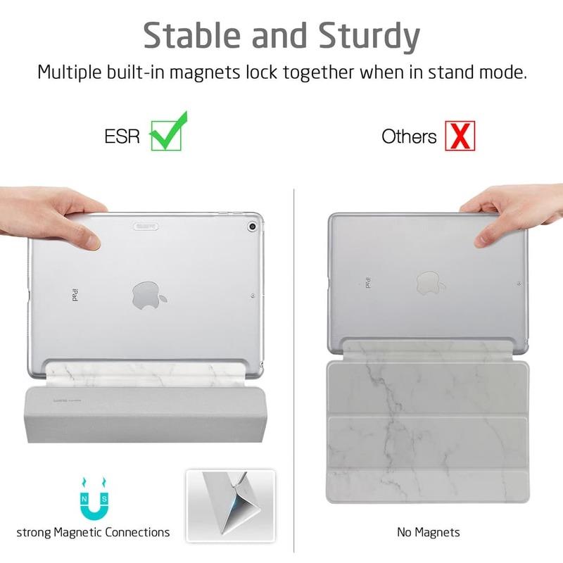 iPad Air 10.5 2019 Marble Trifold Case-5