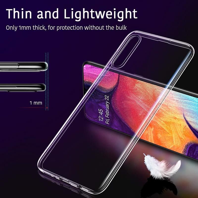 Galaxy A50 Essential Slim Clear Soft TPU Case1