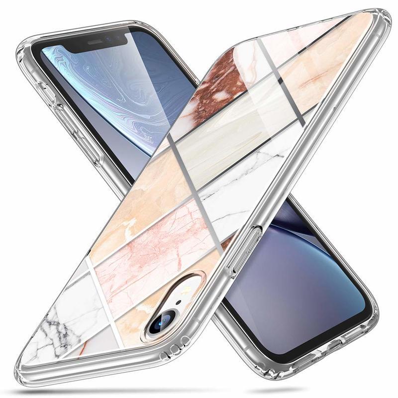 iPhone XR Marble Slim Hard Back Case 1