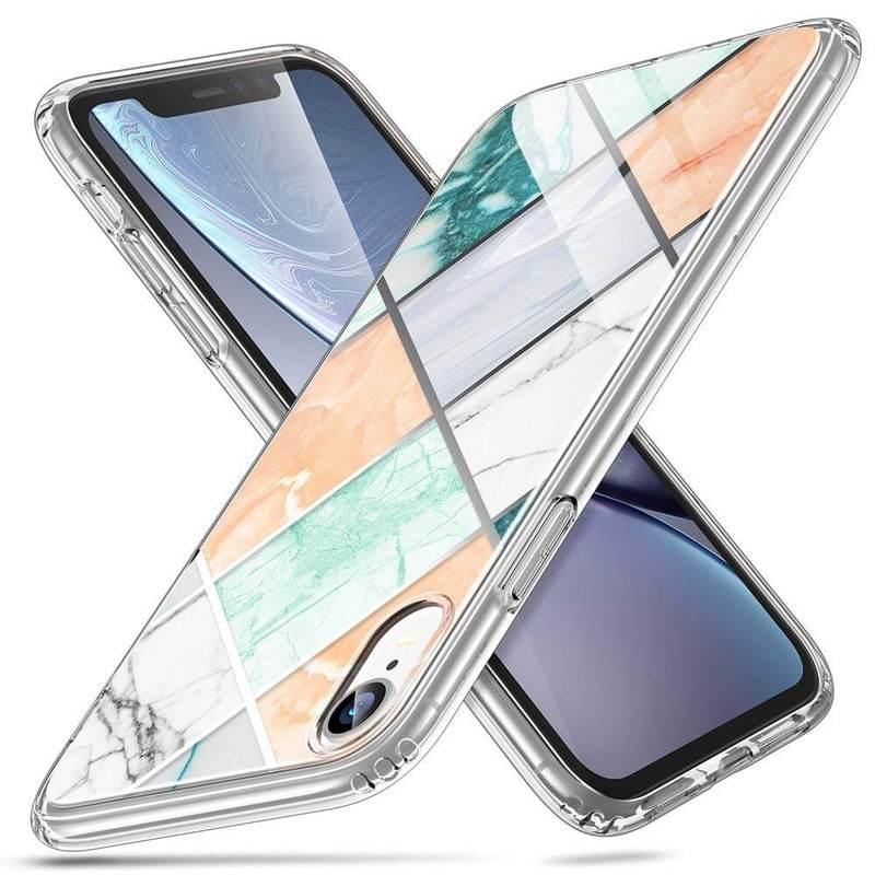 iPhone XR Marble Slim Hard Back Case